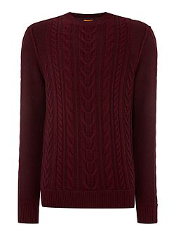 KAAS Crew Neck Cable knit Jumper