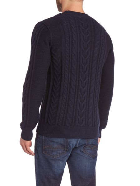 Hugo Boss KAAS Crew Neck Cable knit Jumper
