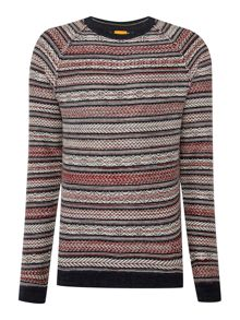 Stripe Crew Neck Pull Over Jumpers