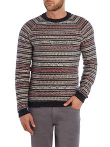 Hugo Boss Stripe Crew Neck Pull Over Jumpers