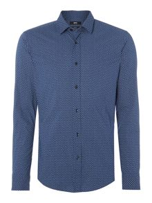 Hugo Boss Ronni Slim Fit diamond geo print shirt