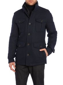Hugo Boss Casual Not Waterproof Button Field Jacket
