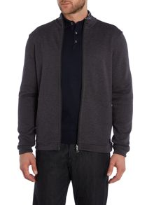 Fossa Funnel Neck Zip through sweatshirt