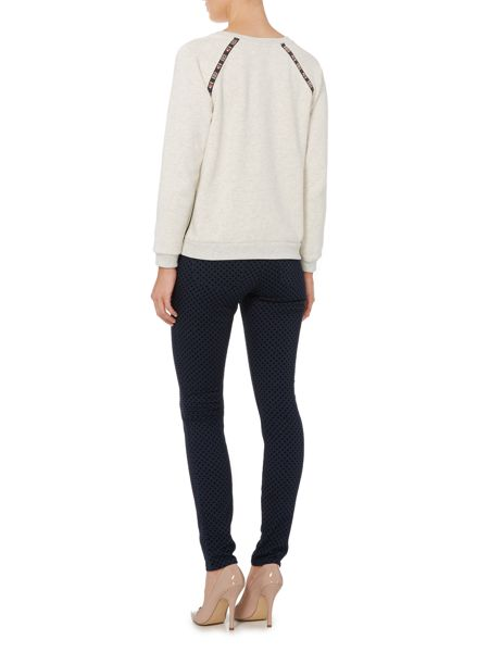 Maison Scotch Skinny fit jeans with flock design