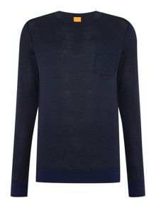 Hugo Boss Kobbel crew neck cotton jumper