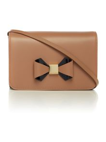 Zahria multi-coloured patent cross body bag
