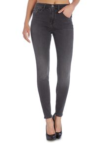 High rise skinny jean in new core grey stretch