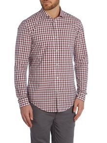 Ridley Gingham Slim Fit Long Sleeve Classic Colla
