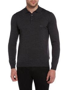 Banet long sleeve knitted polo shirt