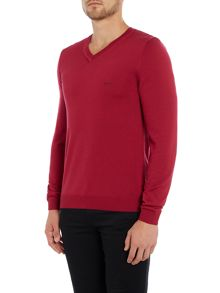 Hugo Boss Batisse V Neck virgin wool jumper