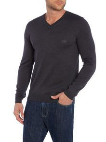 Batisse V Neck virgin wool jumper