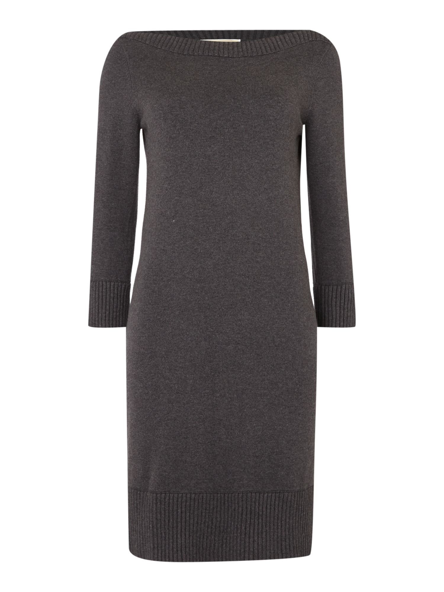 Michael Kors 3/4 sleeve boatneck zip knit dress