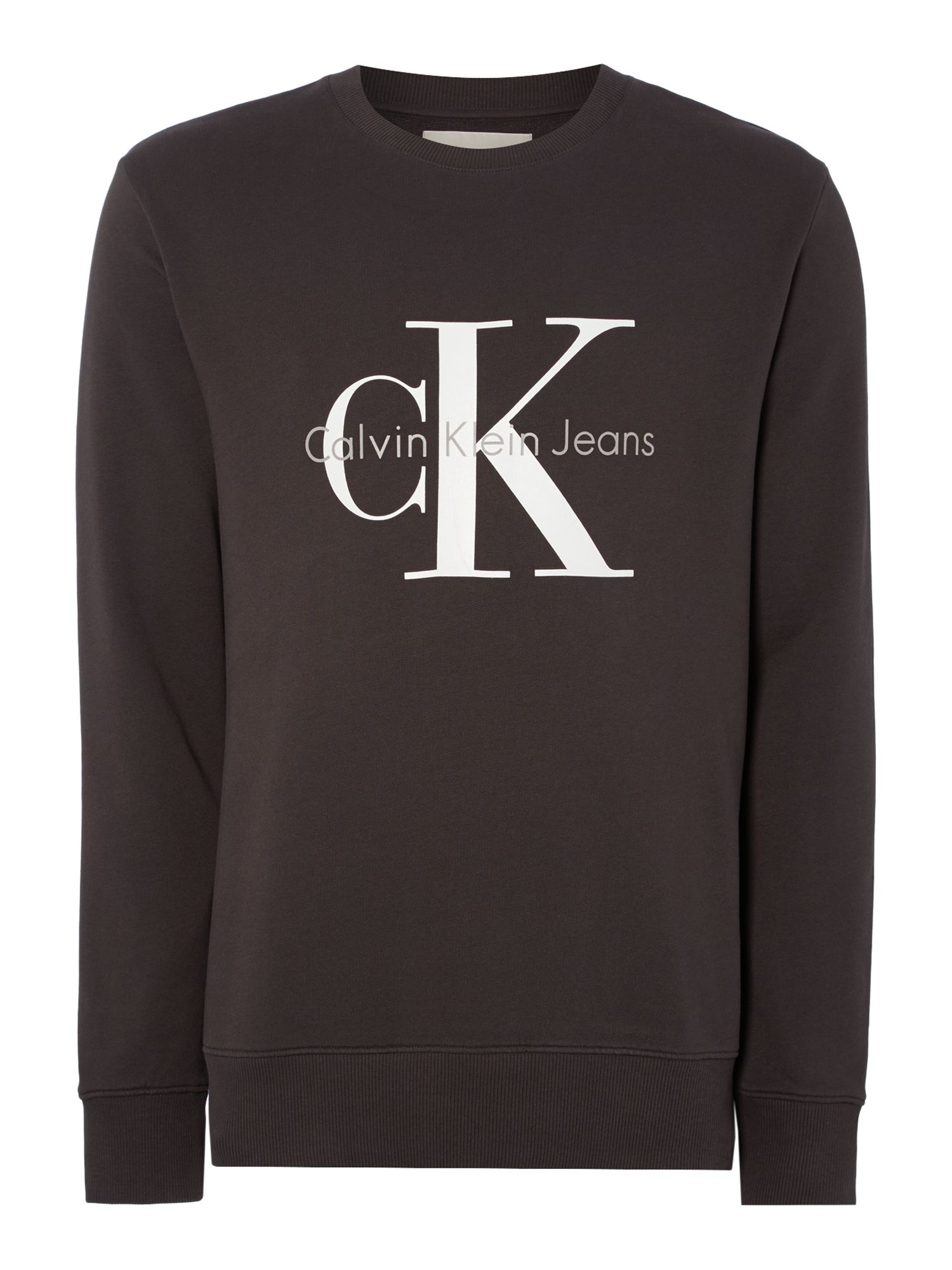 Men's Calvin Klein Crew Neck Sweater, Concrete