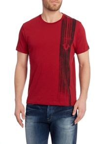 regular fit brush stroke printed t shirt