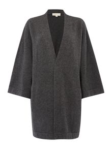 Wide sleeve long cashmere cardigan