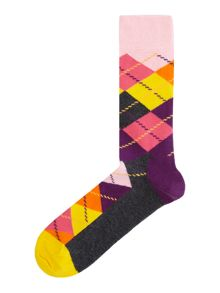 Happy Socks Argyle Print Sock