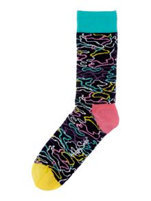 Happy Socks Multi Electric Print Sock