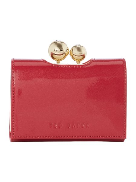 Ted Baker Ottlan red small patent flap over purse