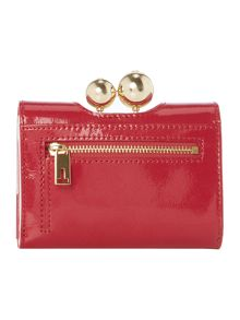 Ottlan red small patent flap over purse