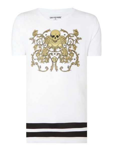 True Religion regular fit skull printed t shirt