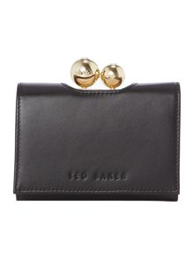 Ted Baker Pooli black small matt flap over purse