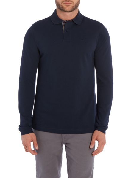 Barbour Long Sleeve Sports Polo Shirt