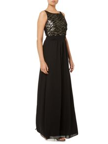 Therapy Sequin Front Maxi Dress