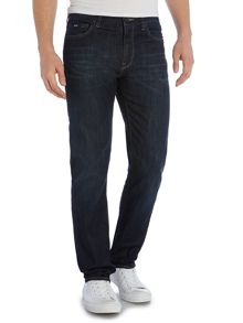 Maine Dark Wash Mid Rise Jeans