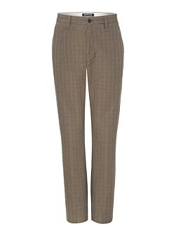 Chesnut Check Straight Leg Trouser