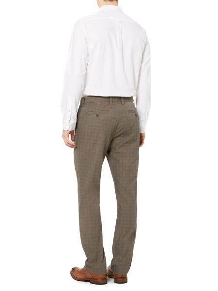 Howick Chesnut Check Straight Leg Trouser