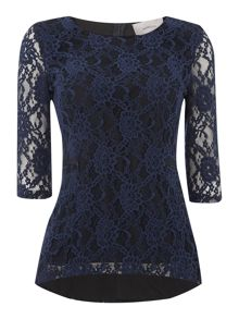 Coca lace peplum top