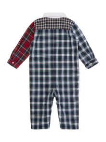 Baby boys patchwork tartan all in one