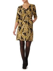 Phoenix Pheasant Printer Jersey Dress