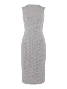 Therapy Honeycomb roll neck dress