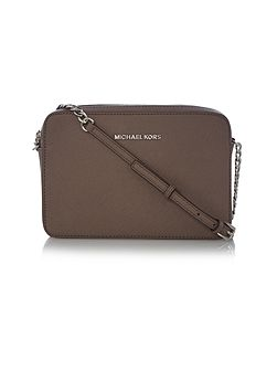 Jetset travel taupe large cross body bag