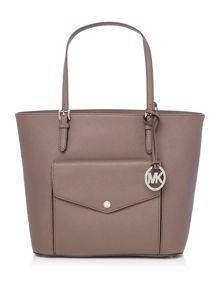 Jetset taupe pocket tote bag