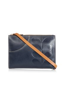 Forget me not navy cross body bag