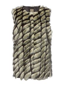 Faux fur carved gilet