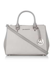 Sutton grey double zip tote bag
