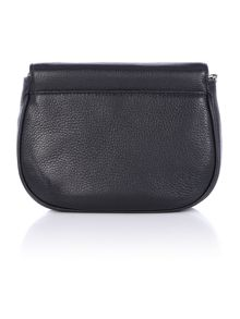 Bedford black fold over cross body bag
