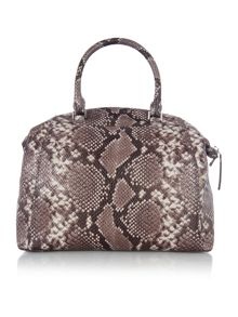 Riley grey python slouch tote bag