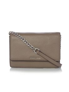 Daniela taupe gusset cross body bag