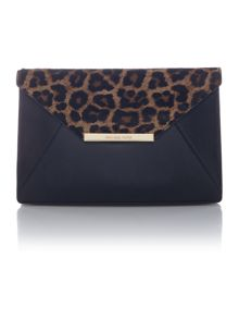 Michael Kors Lana cheetah envelope clutch bag