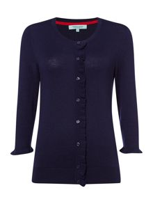 Cardigan with Frill Detail