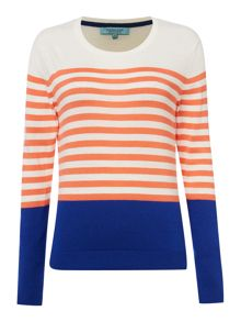 Stripe Colour Block Jumper