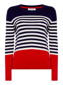 Dickins & Jones Stripe Colour Block Jumper