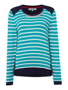 Dickins & Jones Stripe Embellished Jumper