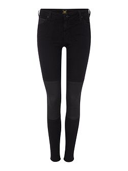Lee Toxey super skinny coated knee jean with