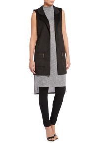 Therapy Suede sleeveless jacket