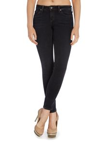 Toxey super skinny jean in black marbled